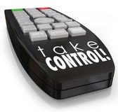 Take Control Remote Assertive Attitude Ambition Confidence — Stock Photo