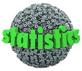 Statistics Word Percentage Sign Sphere Ball Stats — Stock Photo