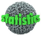 Statistics Word Percentage Sign Sphere Ball Stats — Stock Photo