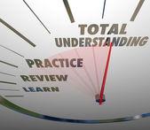 Total Understanding Speedometer Measure Learning Education — Stock Photo
