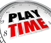 Play Time Clock Fun Recreation Recess Sports Activity — Foto Stock