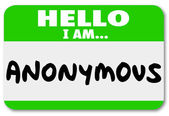 Anonymous Unnamed Name Tag Classified Secret Identity — Stock Photo