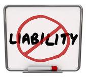 No Liability Reduce Risk Mitigation — Stockfoto