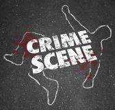 Escena del crimen violento asesinato homicidio zona prohibida — Foto de Stock