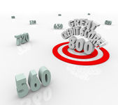 Great Credit Score Numbers Target — Stock Photo