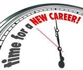 Hora de um novo emprego alteração do relógio carreira trabalhar siga sonhos — Foto Stock
