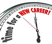 Time for a New Career Clock Change Jobs Work Follow Dreams — 图库照片
