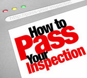 How to Pass Your Inspection words — Stock Photo