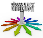 Choose a New Direction Arrows Many Choices Paths Forward — Foto de Stock