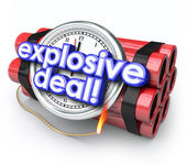 Explosive Deals Bomb Dynamite Special Sale Clearance Price — Stock Photo