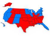Mapa de estados unidos de américa — Foto de Stock