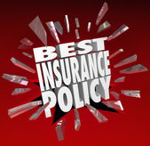 Best Insurance Policy Words Coverage Health Care Protection — Stock Photo