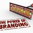 The Power of Branding words and a brand iron — Stock Photo #50443315