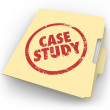 Case Study words stamped in red ink — Stock Photo #50443361