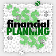 Financial Planning words on puzzle pieces — Stock Photo #50443553
