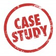 Case Study words in a circle or round stamp — Stock Photo #50443595