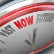 Past Now Future words on a clock — Stock Photo #50443707