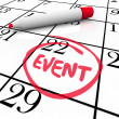 Event Word Circled Calendar Date Special Day Party Meeting — Foto de Stock   #50443721