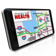 Map to Health application, program or software on a smart phone — Stock Photo #50443855