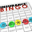 Insurance Bingo words on a game card — Stock Photo #50443857