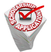 Scholarship Applications paperwork — Stockfoto