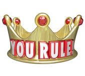 你统治的话在金皇冠 — 图库照片