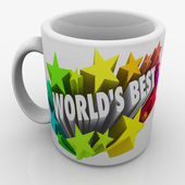 World's Best words and colorful 3d stars — Stock Photo