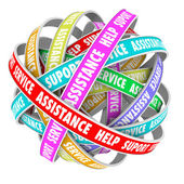 Support Assistance Help Support endless cycle of ribbons — Foto Stock