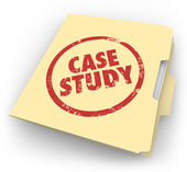 Case Study words stamped in red ink — Stock Photo