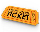Todas as palavras do bilhete de acesso — Foto Stock