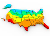 Map of the  United States of America — Stock Photo