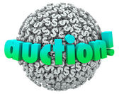 Auction word on a ball — Stock Photo