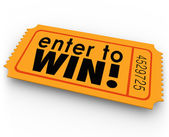 Enter to Win Raffle Ticket Winner Lottery Jackpot — Stock Photo