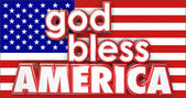 God Bless America 3d words — Stock Photo