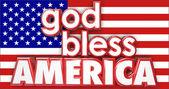 God Bless America 3d words — Stock Photo