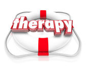 Therapy word on a life preserver — Stock Photo