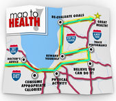 Road map to good health — Stock Photo