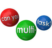 Can You Multitask words on 3d balls — Stock Photo