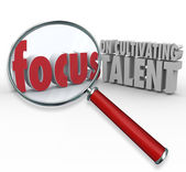 Focus on Cultivating Talent 3d words — Foto de Stock
