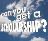 Can You Get a Scholarship words in white 3d letters — Stock Photo