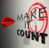 Make It Count words in a target — Stock Photo
