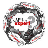 Are You an Expert question in thought clouds — Stockfoto