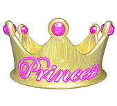 Gold crown with word Princess — Stock Photo