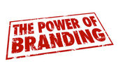 The Power of Branding words in a red stamp — Stock Photo