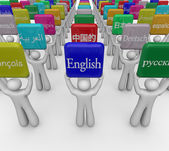 International or foreign languages on signs — Stock Photo