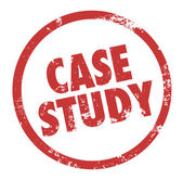 Case Study words in a circle or round stamp — Stock Photo
