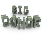 Big Donor words with letters made of money — Stock Photo
