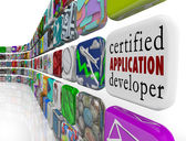 Certified Application Developer on an app tile — Foto Stock