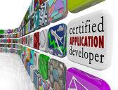 Certified Application Developer on an app tile — Stock Photo