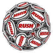 Rush word in speech bubbles — Stock Photo